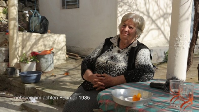 Video still: Artemisia Anastasopoulou talks about her memories from the Battle of Crete