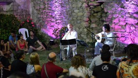 Christos Mparmpas & Μurat Aydemir in 'Patitiri' stage|At the garden of the Labyrinth|V. Vardakis and his group|Stelios Petrakis & Cretan Music Quartet|Manolakis, Yiannadakis, Fasoulaki: three talented Cretan musicians on stage!|A wonderful concert with Evgenios Voulgaris|'traffic jam' at the narrow lanes of Houdetsi|The closing concert with Vassilis Stavrakakis