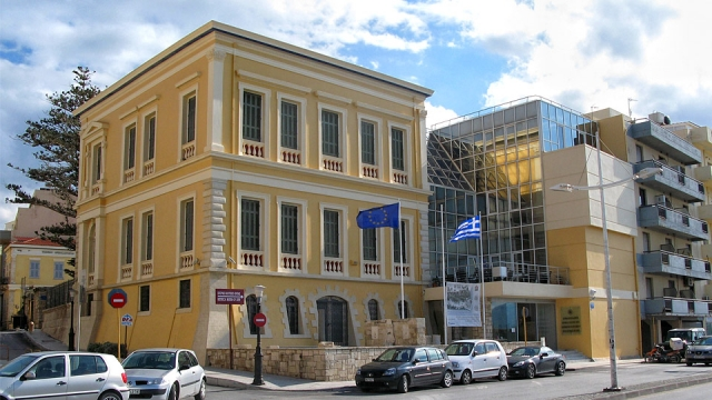 The neoclassical building of the Historical Museum of Crete