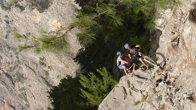 Adrenaline rush, in the gorge of Agia Eirini!