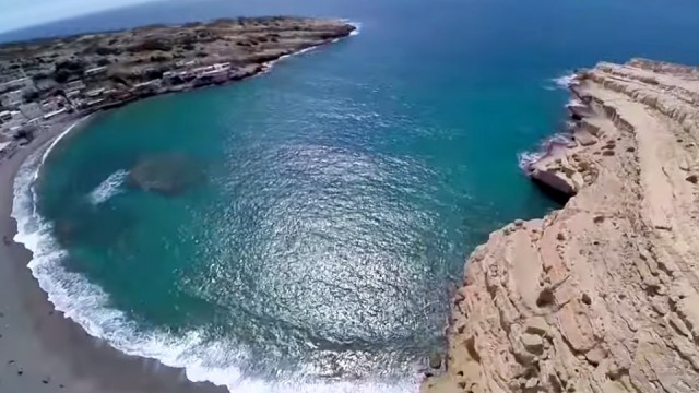 Matala bay from above!